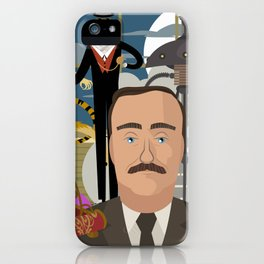 great science fiction retro writer iPhone Case