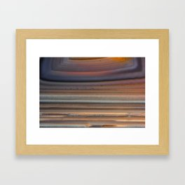 Back Lit Agate Framed Art Print