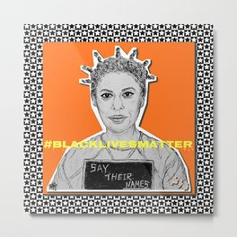 (Oitnb Crazy Eyes - Say Their Names) - yks by ofs珊 Metal Print
