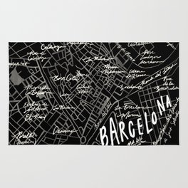 Barcelona, Spain Map Rug