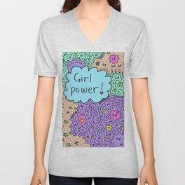 Girl power! Unisex V-Neck