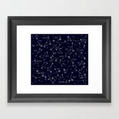 Space horoscop Framed Art Print