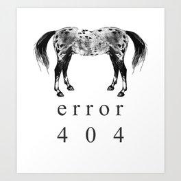 ERROR 404 Art Print