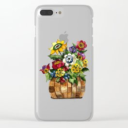 Happy Flowers Clear iPhone Case
