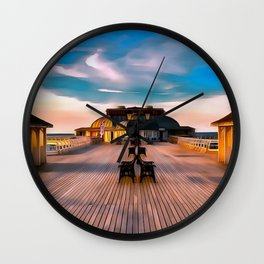 Cromer Pier (Painting) Wall Clock