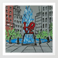 Little Love Park Sketch Art Print