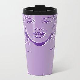 Lady in Purple Metal Travel Mug