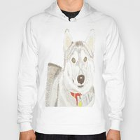 husky Hoodies featuring Husky by Lee Watson