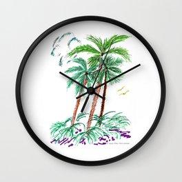 """""""Triplet Palms"""" Wall Clock"""