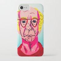 larry david iPhone & iPod Cases featuring Larry David 1 by Alyssa Underwood Contemporary Art