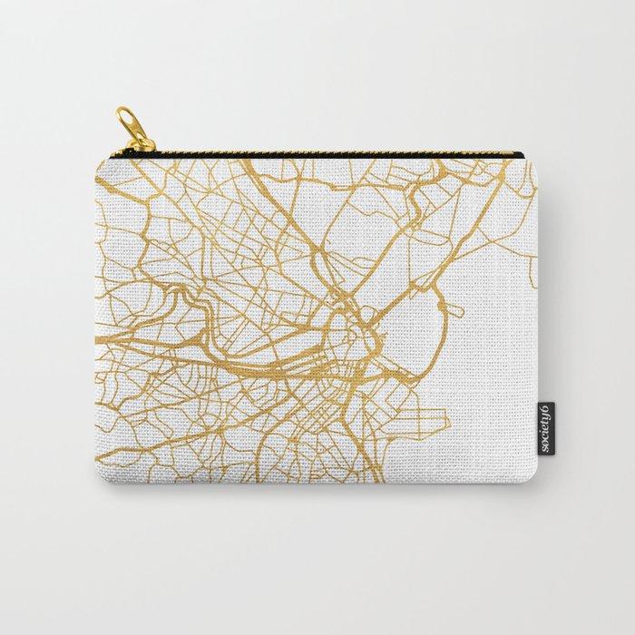 BOSTON MASSACHUSETTS CITY STREET MAP ART Carry-All Pouch