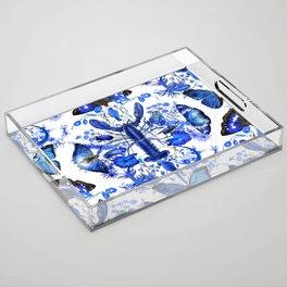 Ultramarine (pattern) Acrylic Tray