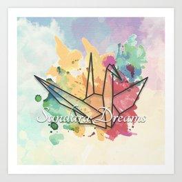 Sundara Dreams with Clouds Art Print