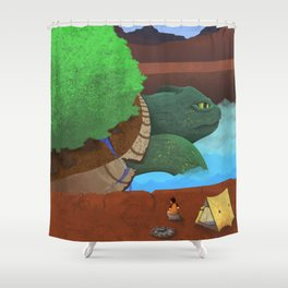 In the Valley of the Ancients Shower Curtain
