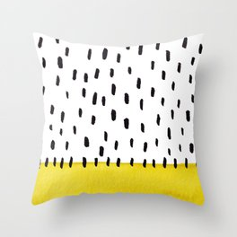 Yellow and black spotted pattern Throw Pillow