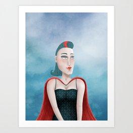 Dreamy Heroine Art Print