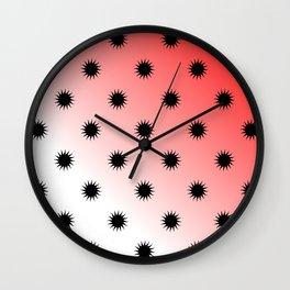 Sun gradient design Wall Clock