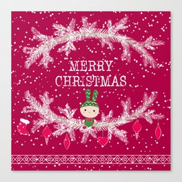 Merry christmas and happy new year 12 Canvas Print