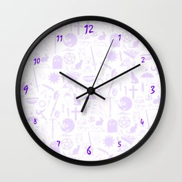 Buffy Symbology, Purple Wall Clock