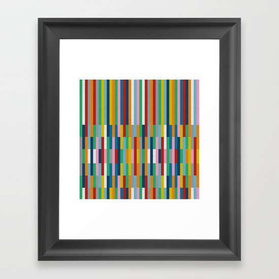 Bricks Rotate #3 Framed Art Print