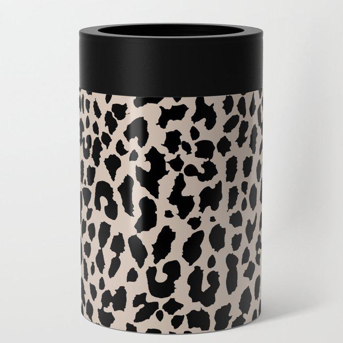 Tan Leopard Can Cooler
