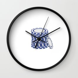 Blue poker chips Wall Clock