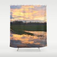 mirror Shower Curtains featuring Mirror by friz sala