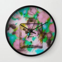 Fashion Icon Floral Remix 2 Wall Clock