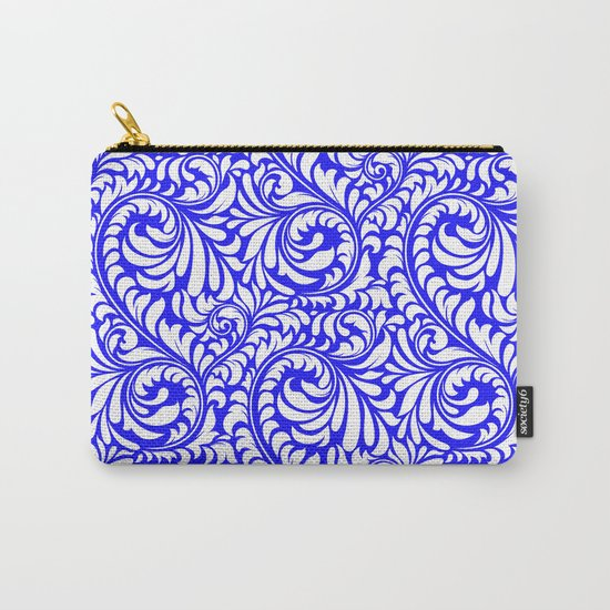 Purple Swirls Carry-All Pouch