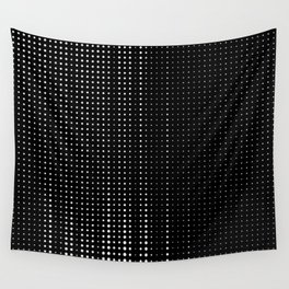 Rhythm of white dots on black background Wall Tapestry