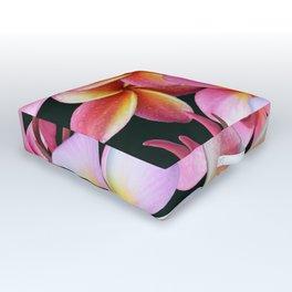 Pink Plumerias Outdoor Floor Cushion