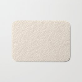 Cavern Clay SW 7701 Thin Pinstripe Angled Lines on Creamy Off White SW7012 Bath Mat