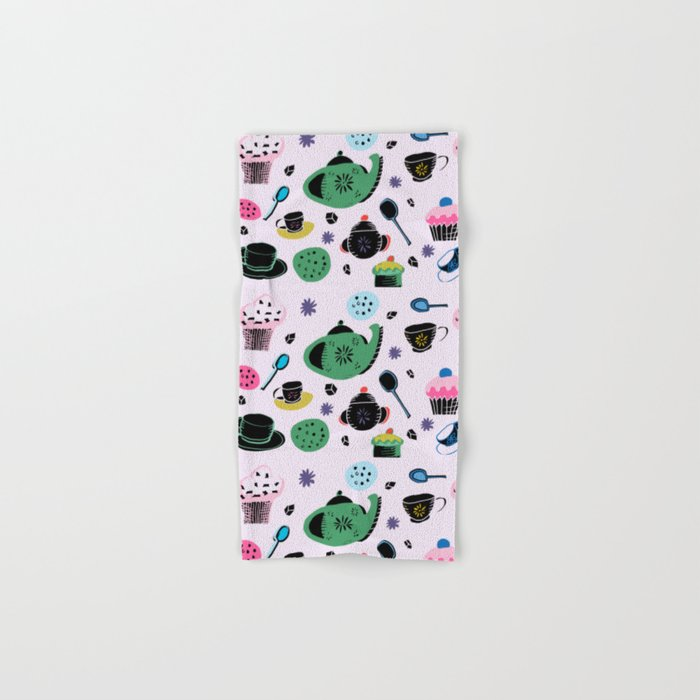 tea party light pink Hand & Bath Towel