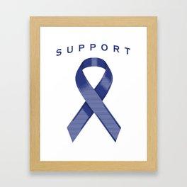 Blue Awareness Ribbon Framed Art Print
