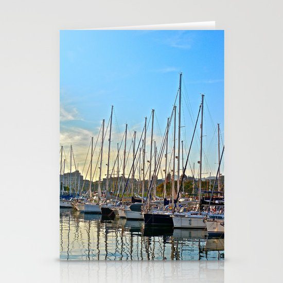 Harbor: Barcelona, Spain Stationery Cards