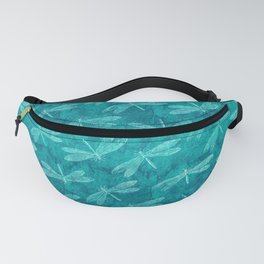 Dragonfly Dance Blue Green Fanny Pack