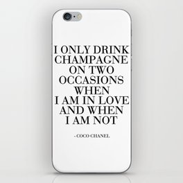 CHAMPAGNE SIGN Party Decoration But First Champagne Celebration Of Life Champagne Gifts Party iPhone Skin