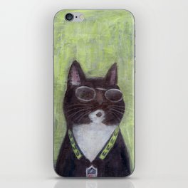 Cat in Shades iPhone Skin