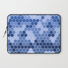 Honeycomb Blue Pattern | Geometric Shapes | Home Decor | Sapphire | For Him | For Her Laptop Sleeve