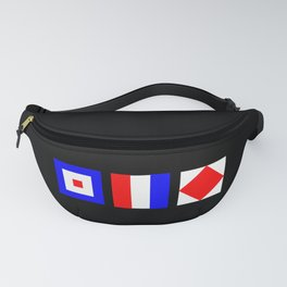 WTF What The Fuck Nautical Signal Flags Fanny Pack