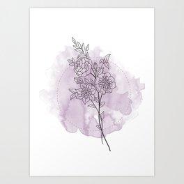 Floral mind 2.o Art Print