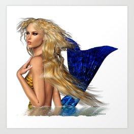 Mermaid Arising from the Sea Art Print