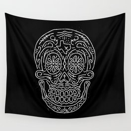 Texas Sugar Skull Wall Tapestry