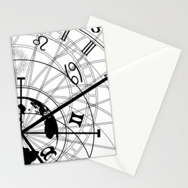 astronomical clock Stationery Cards