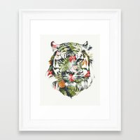tropical Framed Art Prints featuring Tropical tiger by Robert Farkas