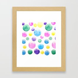 cheerful colorful bubbles Framed Art Print