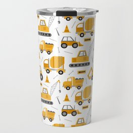 Construction Trucks Travel Mug