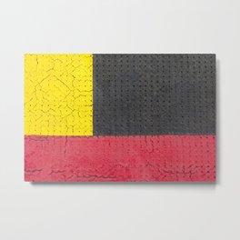 Yellow Grey Red Metal Print