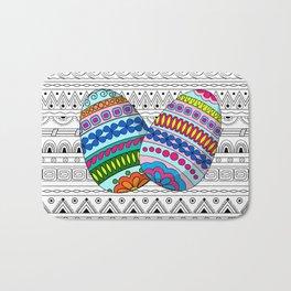 easter eggs on aztec pettern Bath Mat