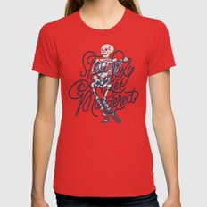 Stay Sexy, Don't Get Murdered Womens Fitted Tee SMALL Red